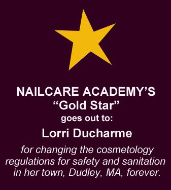 Nailcare Academy Gold Star Award